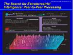 the search for extraterrestrial intelligence peer to peer processing