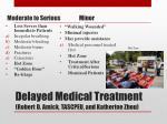 delayed medical treatment robert d amick tascpeu and katherine zhou