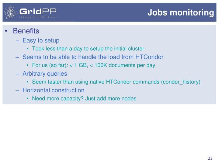 Jobs monitoring