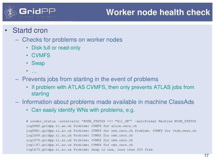 Worker node health check
