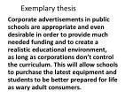 exemplary thesis