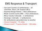ems response transport