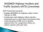 nasemso highway incident and traffic systems hits committee
