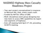 nasemso highway mass casualty readiness project