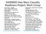 nasemso hwy mass casualty readiness project work group