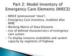 part 2 model inventory of emergency care elements miece