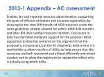 2013 1 appendix ac assessment