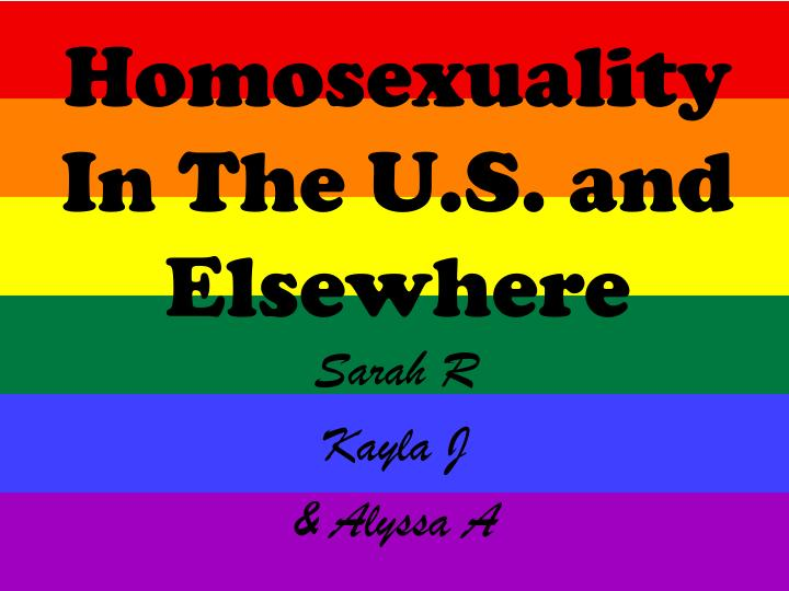 homosexuality in the u s and elsewhere n.