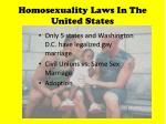 homosexuality laws in the united states