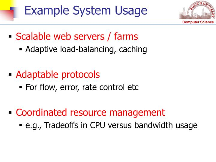 Example System Usage
