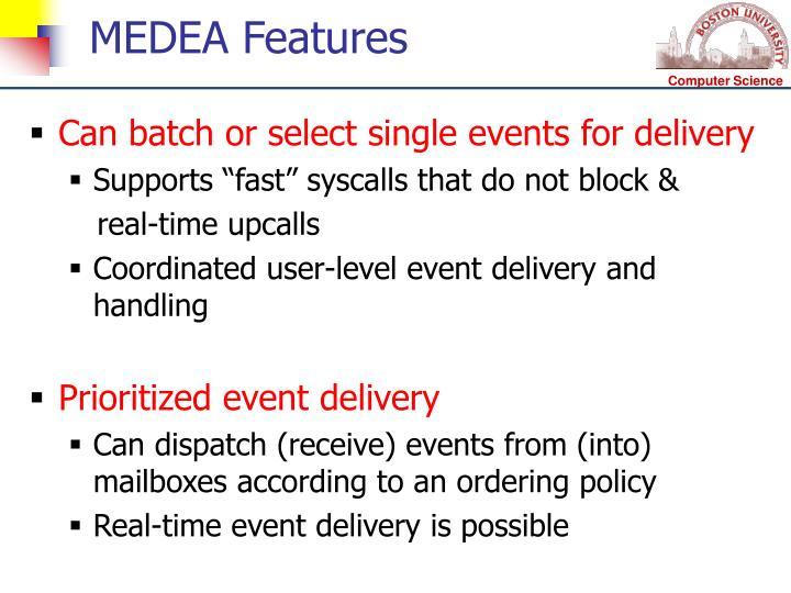 MEDEA Features