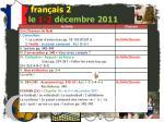 fran ais 2 le 1 2 d cembre 20113