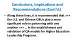 conclusions implications and recommendations cont d1