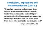 conclusions implications and recommendations cont d2