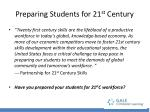 preparing students for 21 st century