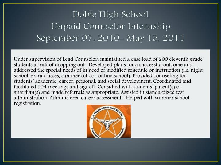 Dobie High School