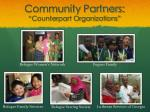 community partners counterpart organizations