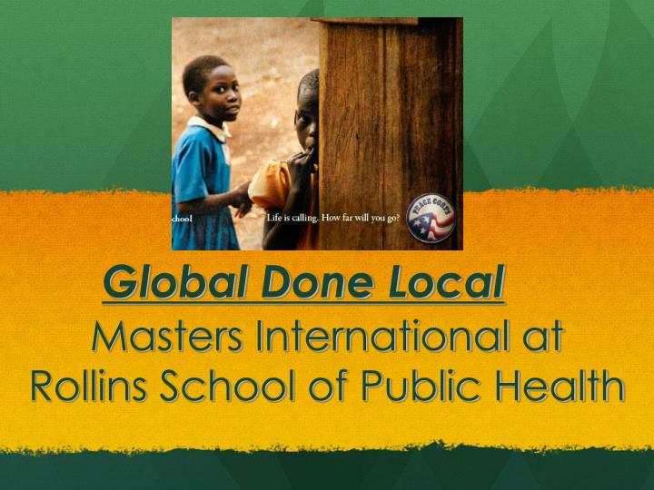 masters international at rollins school of public health n.