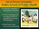 mi at emory university rollins school of public health