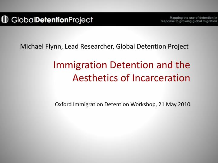 michael flynn lead researcher global detention project n.