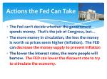 actions the fed can take