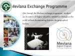 mevlana exchange programme