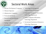 sectoral work areas
