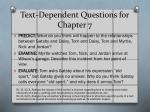 text dependent questions for chapter 7