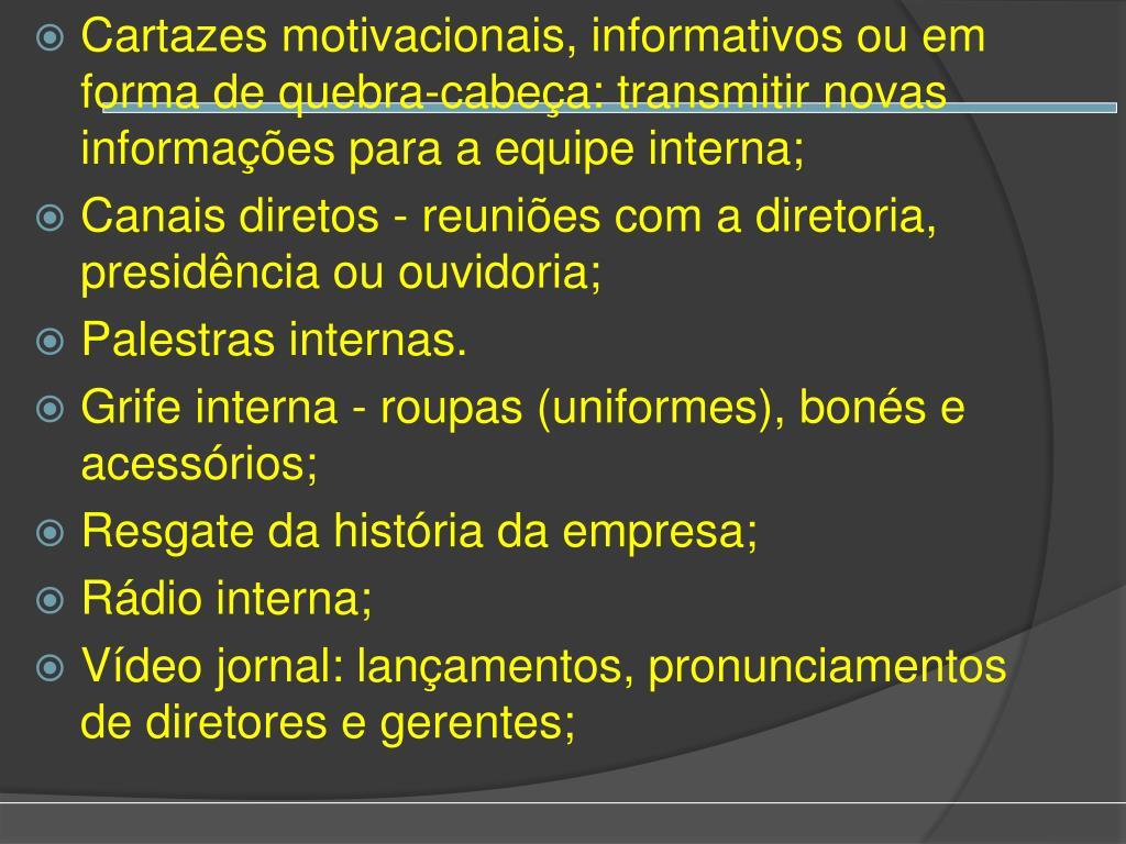 Ppt Marketing Interno Powerpoint Presentation Free