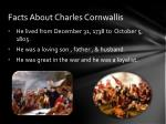facts about charles cornwallis