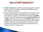 types of java application3
