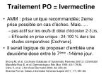 traitement po ivermectine