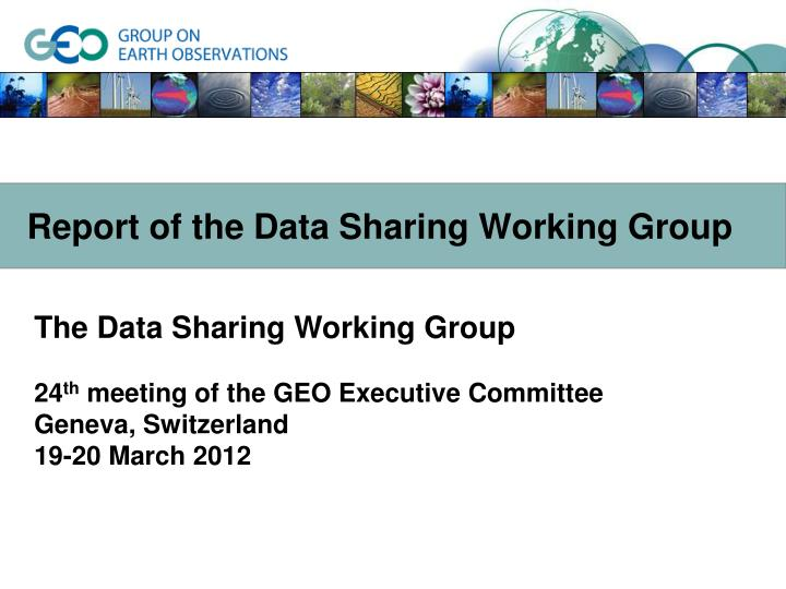 report of the data sharing working group n.