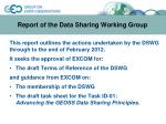 report of the data sharing working group1