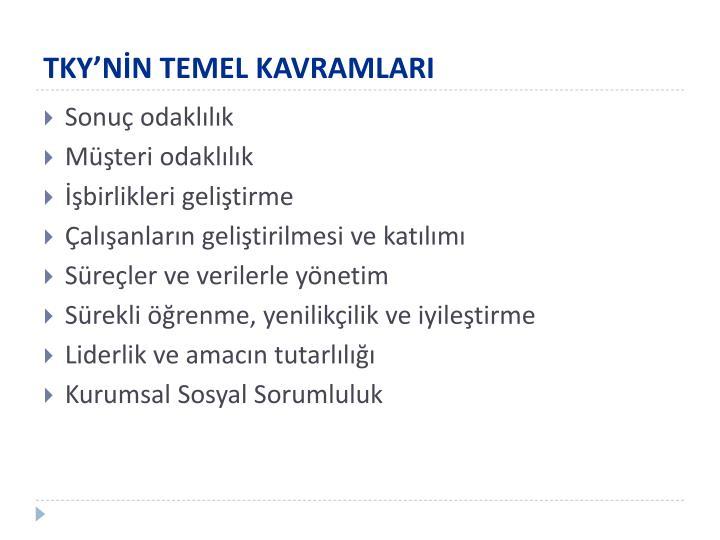 TKY'NİN TEMEL KAVRAMLARI