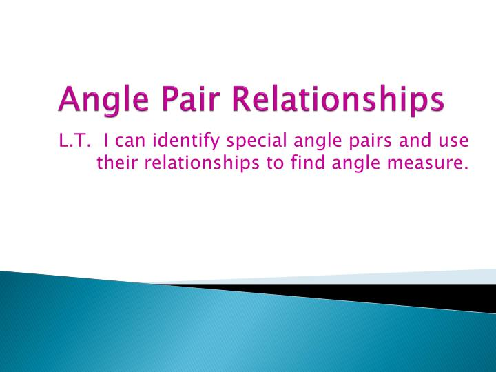 angle pair relationships n.