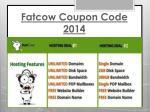 fatcow coupon code 20141