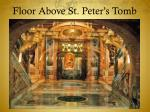 floor above st peter s tomb