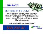 the value of a buck
