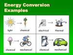 energy conversion examples