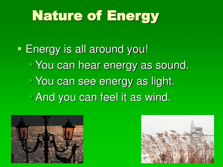 nature of energy n.