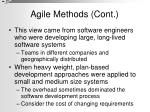 agile methods cont