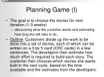 planning game i