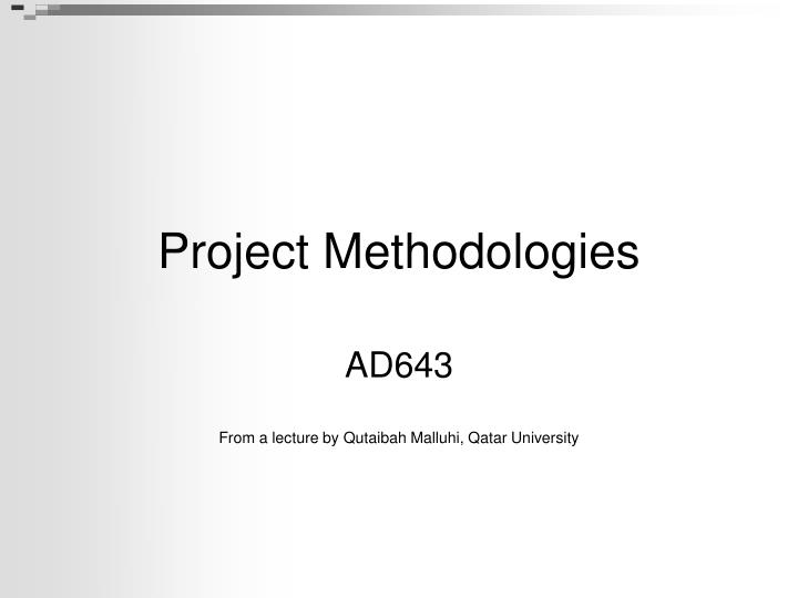 project methodologies n.