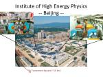 institute of high energy physics beijing