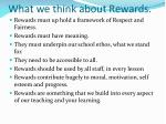 what we think about rewards
