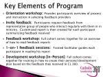 key elements of program