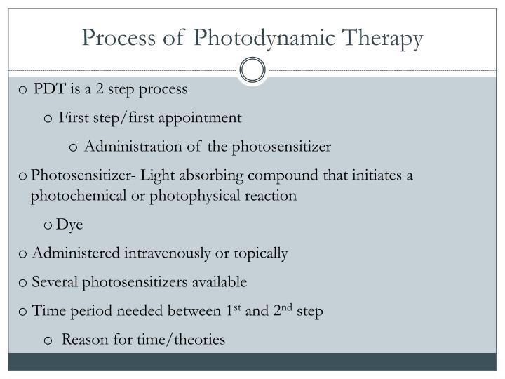 Process of Photodynamic Therapy