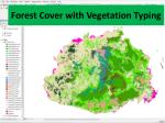 forest cover with vegetation typing