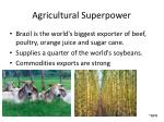 agricultural superpower